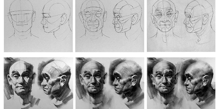 4 занятия по портрету!