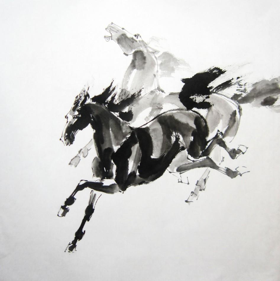 Мастер-класс по китайской живописи и каллиграфии «Лошади»