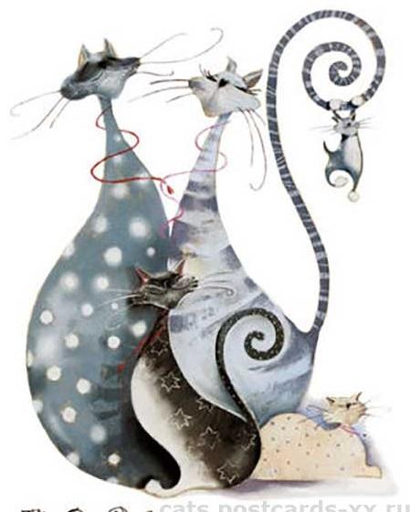 Мастер-класс акрилом «Мини-картины с забавными кошками»