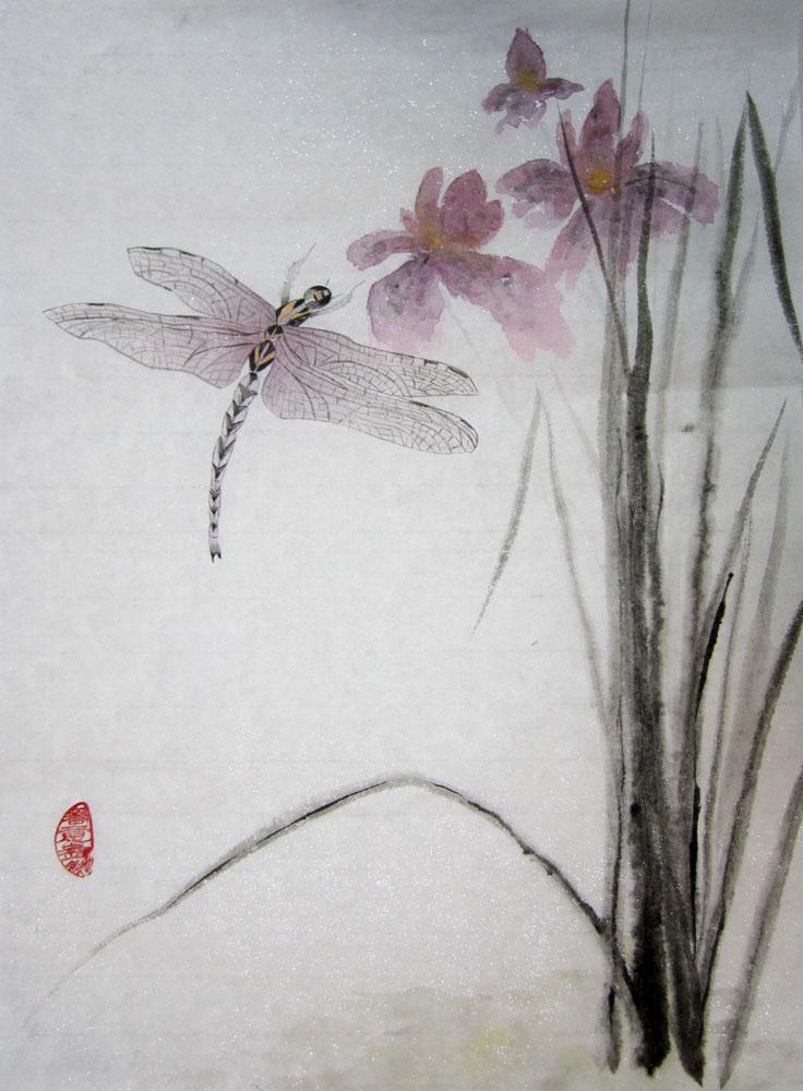 Мастер-класс «Орхидеи и стрекозы»