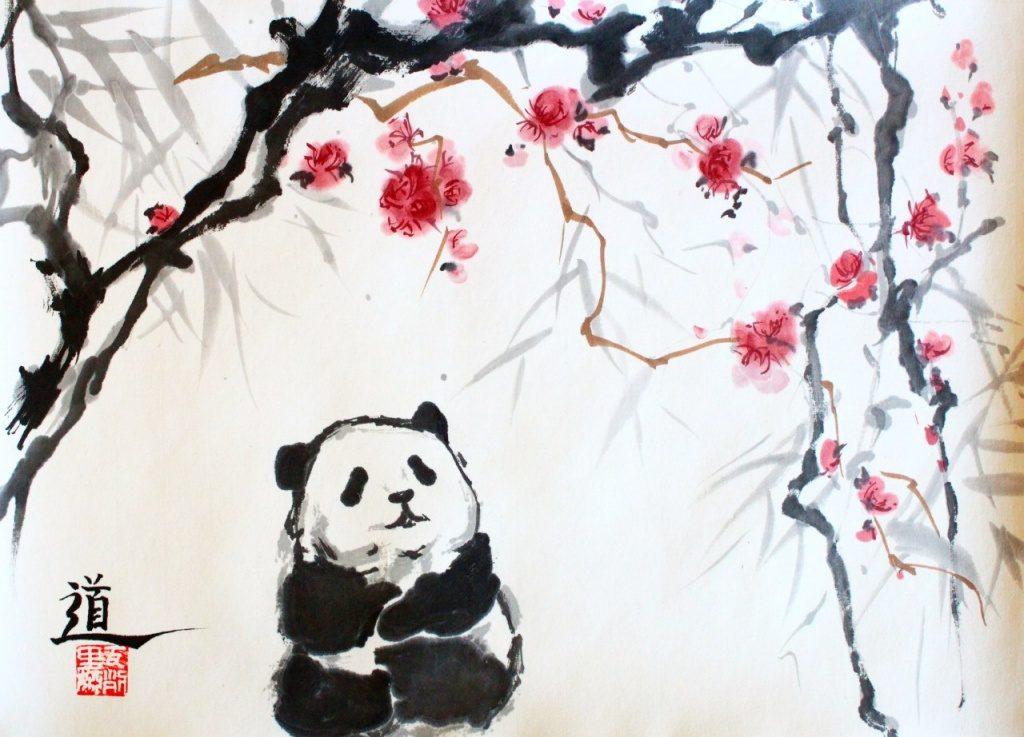 Мастер класс по восточной живописи и каллиграфии «Панда, цветы и бамбук!»