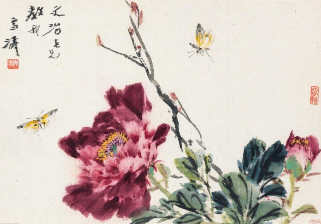 мастер класс по восточной живописи и каллиграфии «Королевский цветок Пион»