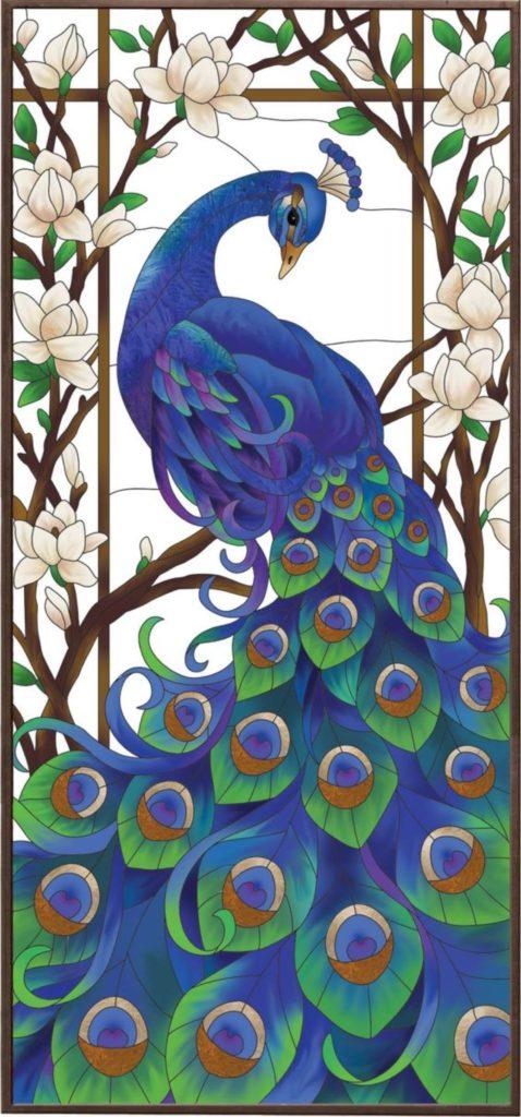 Мастер-класс по витражной росписи «Цветы и птицы»