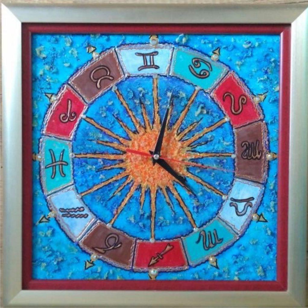 Мастер-класс Натальи Силютиной  «Часы-картина акрилом»