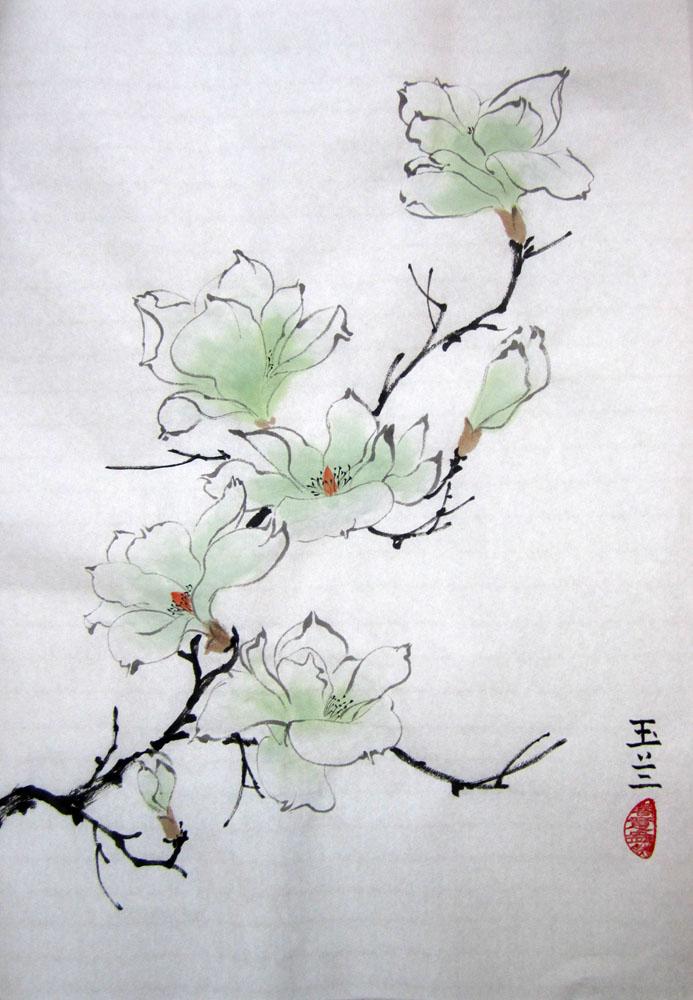 Мастер класс по китайской живописи и каллиграфии «Магнолия»
