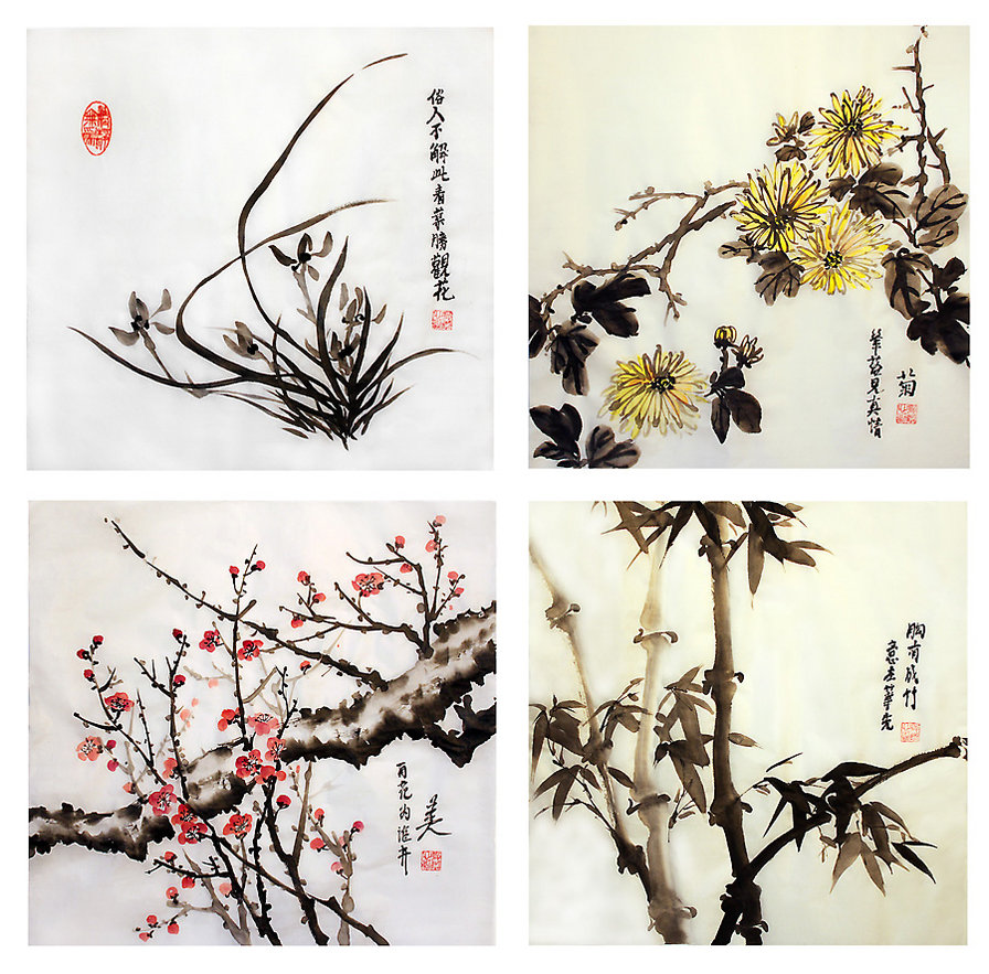 Курс по восточной живописи «Четыре благородных растения»