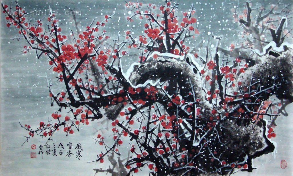 Мастер класс по восточной живописи и каллиграфии «Слива Мей Хуа»