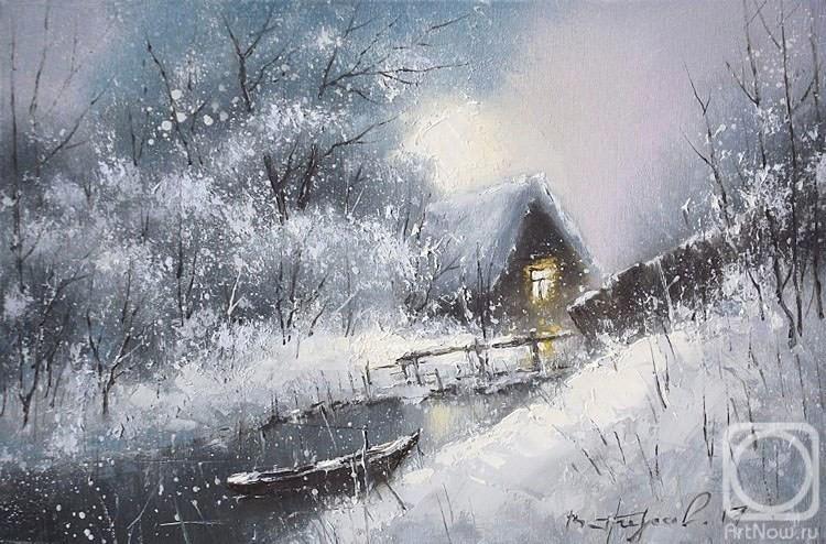 Мастер-класс по живописи маслом «Зимняя сказка»