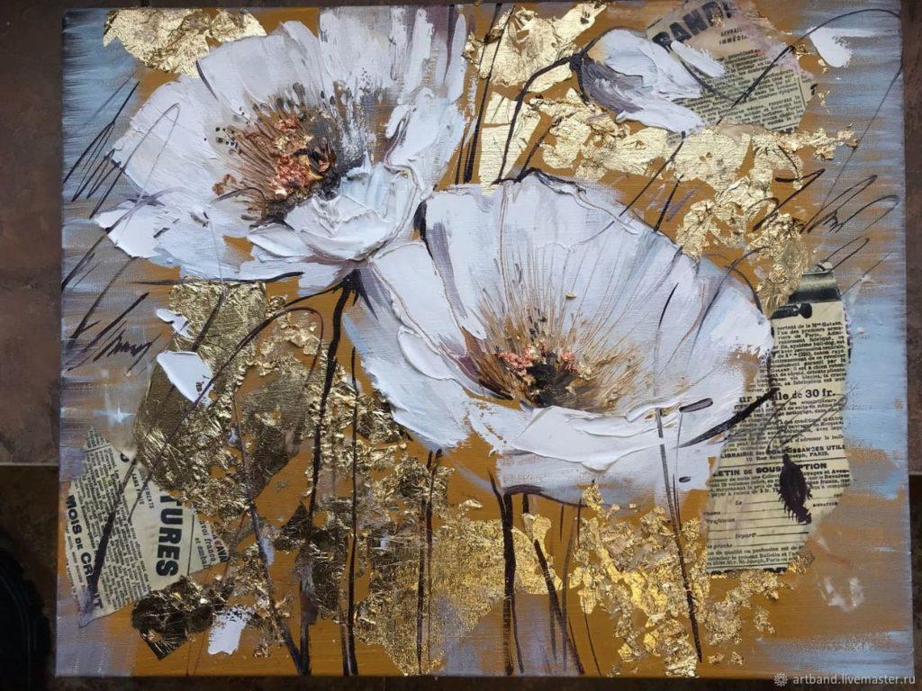 Мастер класс по интерьерным картинам «Цветы»