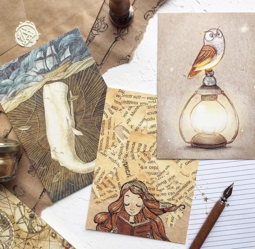 Мастер класс по мини-картинам на крафтовой бумаге