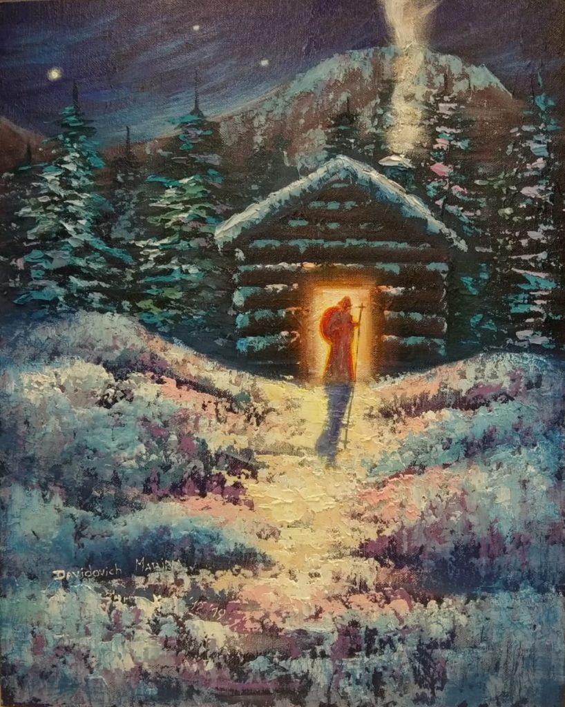 Мастер класс по декоративной картине акрилом «В канун нового года»